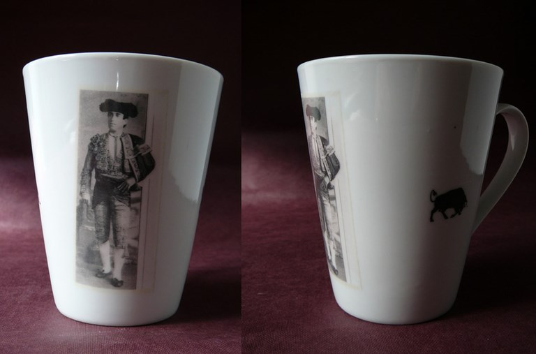mug conique decor torero 1